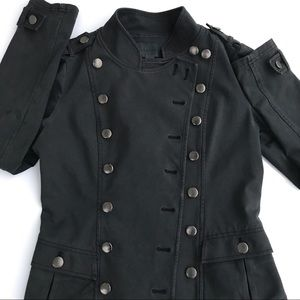 Black Anthropologie Military Style Jacket